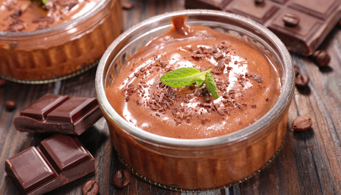 Mousse de chocolate con aquafaba
